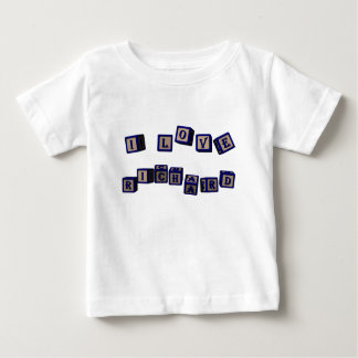 I love Richard toy blocks in blue Baby T-Shirt