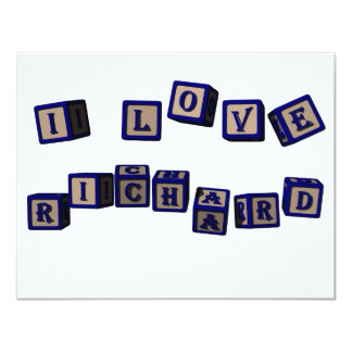 I love Richard toy blocks in blue Card
