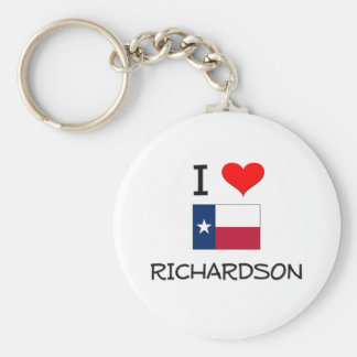 I Love Richardson Texas Basic Round Button Keychain