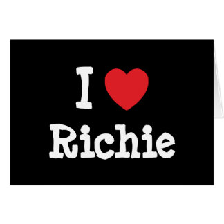 I love Richie heart custom personalized Greeting Card