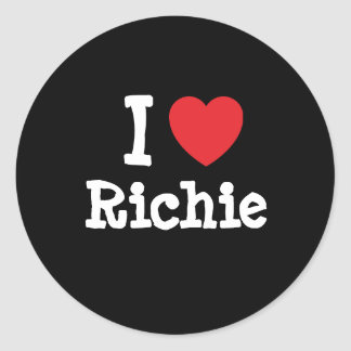 I love Richie heart custom personalized Classic Round Sticker