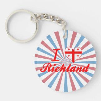 I Love Richland, Georgia Acrylic Key Chain