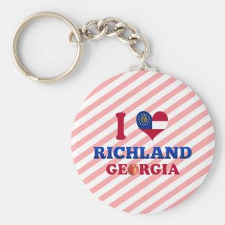 I Love Richland, Georgia Key Chain