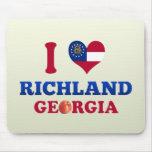 I Love Richland, Georgia Mouse Pads