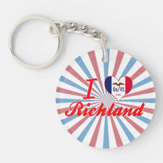 I Love Richland, Iowa Keychains