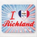 I Love Richland, Iowa Mouse Pad