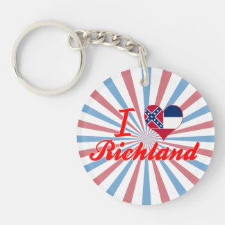 I Love Richland, Mississippi Key Chains