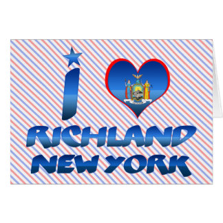 I love Richland, New York Greeting Cards