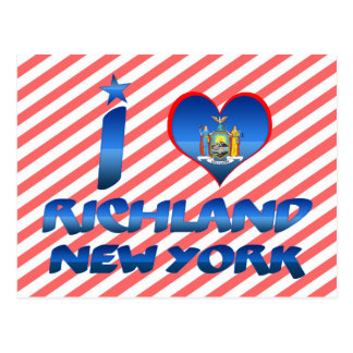 I love Richland, New York Post Cards