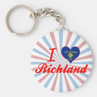I Love Richland, Oregon Keychains