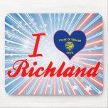 I Love Richland, Oregon Mousepad
