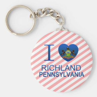 I Love Richland, PA Key Chains