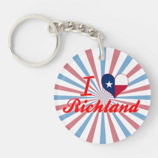 I Love Richland, Texas Keychains