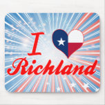 I Love Richland, Texas Mouse Pads
