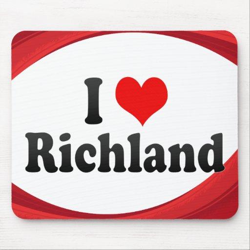 I Love Richland, United States Mouse Pad