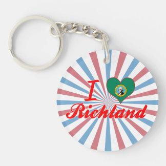I Love Richland, Washington Keychains