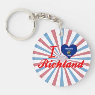 I Love Richland, Wisconsin Acrylic Keychains