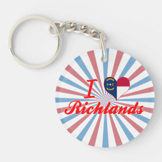 I Love Richlands, North Carolina Key Chain