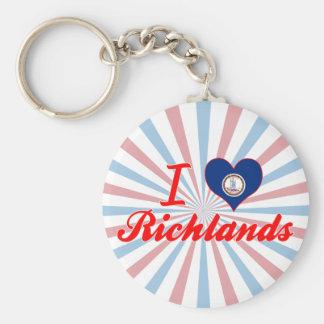 I Love Richlands, Virginia Key Chains
