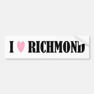 I LOVE RICHMOND BUMPER STICKER