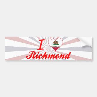 I Love Richmond, California Bumper Stickers