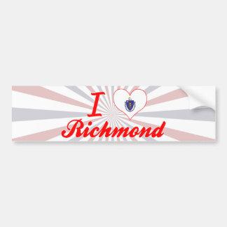 I Love Richmond, Massachusetts Bumper Stickers