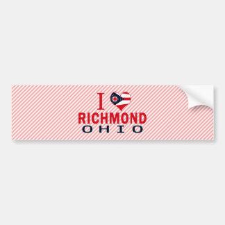 I love Richmond, Ohio Bumper Sticker