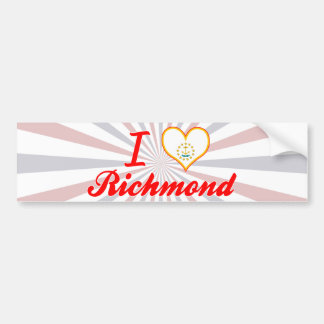 I Love Richmond, Rhode Island Bumper Stickers