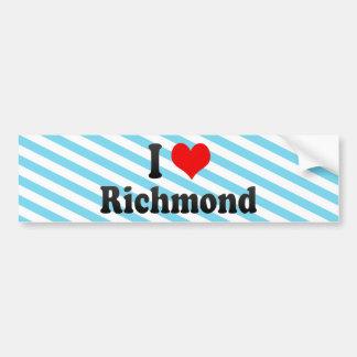 I Love Richmond, United States Bumper Sticker