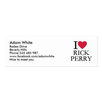 I love Rick Perry Business Card Template