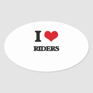 I Love Riders Oval Sticker