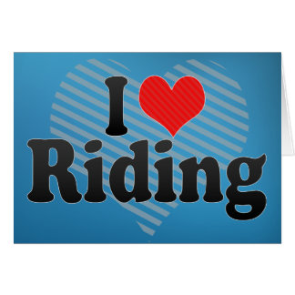I Love Riding Cards