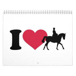 I love riding horses wall calendars