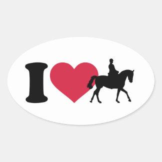 I love riding horses oval stickers