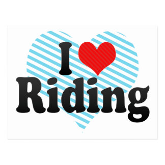 I Love Riding Postcard