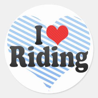 I Love Riding Sticker