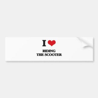 I love Riding The Scooter Car Bumper Sticker