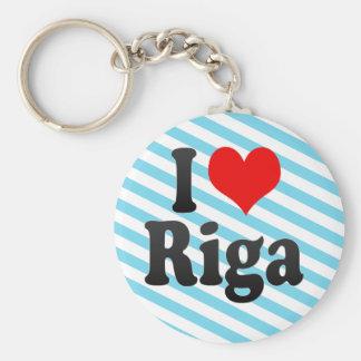 I Love Riga, Latvia Basic Round Button Keychain