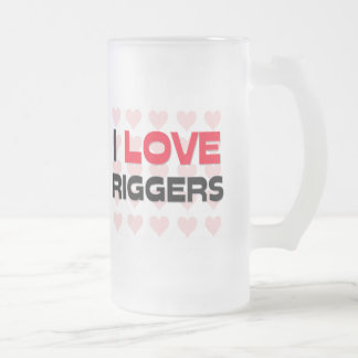 I LOVE RIGGERS 16 OZ FROSTED GLASS BEER MUG