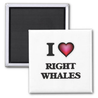 I Love Right Whales Magnet