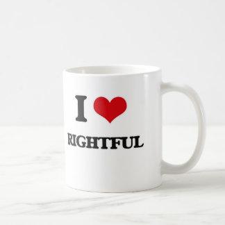 I Love Rightful Coffee Mug