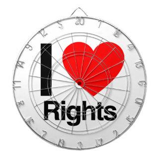 i love rights dartboard