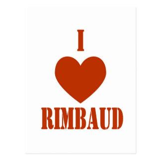 I love Rimbaud Postcard