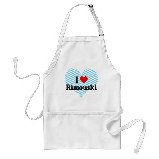 I Love Rimouski, Canada. I Love Rimouski, Canada Adult Apron