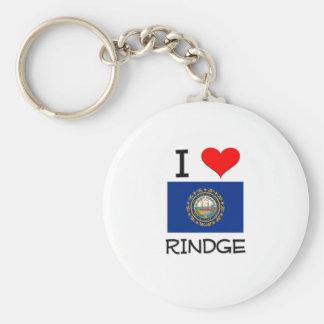 I Love Rindge New Hampshire Keychain