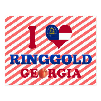 I Love Ringgold, Georgia Postcard