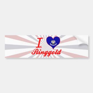 I Love Ringgold, Louisiana Bumper Sticker