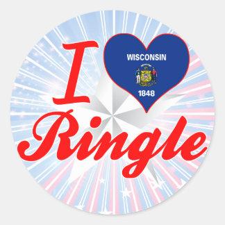 I Love Ringle, Wisconsin Classic Round Sticker