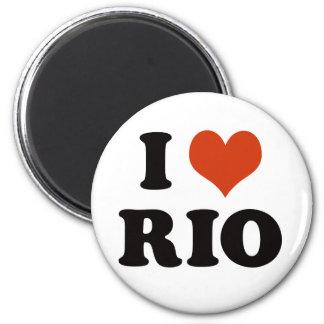 I love Rio 2 Inch Round Magnet