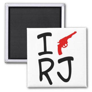 I love RIO DE JANEIRO 2 Inch Square Magnet